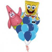 """Букет из шаров """"Боб и Патрик""""."""