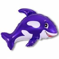 """Фигурный шар """"Кит фиолетовый""""."""