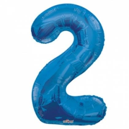 Цифра 2 синяя