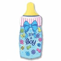 "Фигурный шар ""Бутылочка для мальчика""."