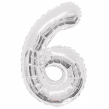 Цифра 6 серебро