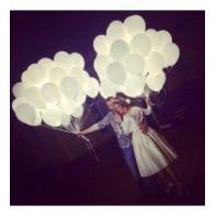 """Светящиеся шары """"Белые"""""""
