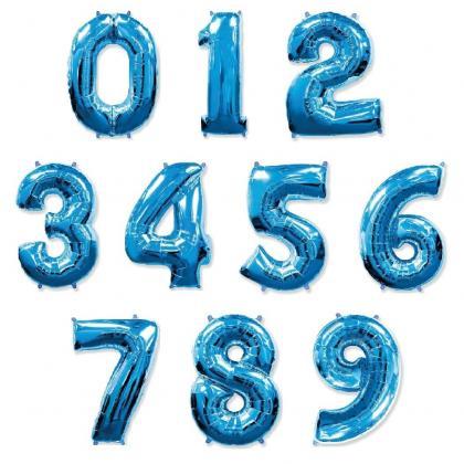 Цифры синие