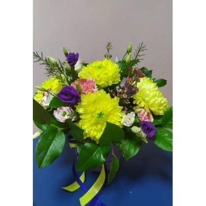 """Букет цветов """"В шляпной коробке номер 3"""""""