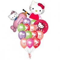 "Букет из шаров ""Hello Kitty""."