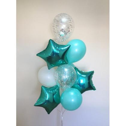 Букет из воздушных шаров тифани