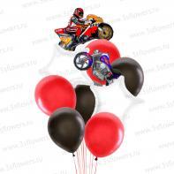 """Букет из шаров """"Мотоциклы""""."""