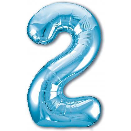 Цифра 2 голубая