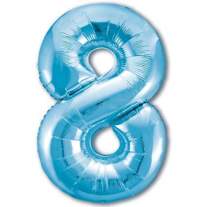 Цифра 8 голубая