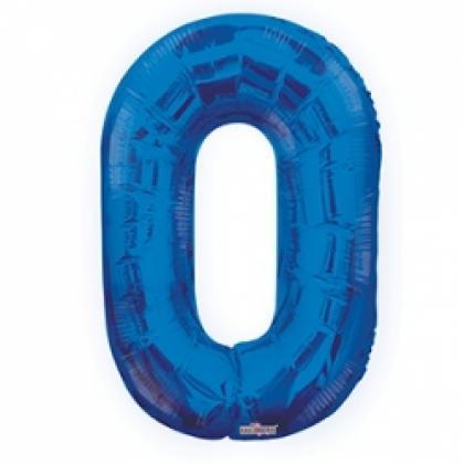 Цифра 0 синяя