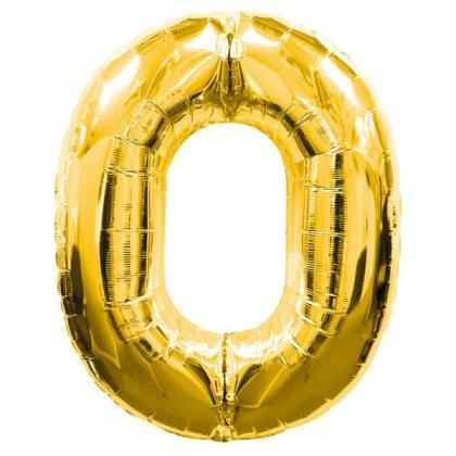 Цифра 0 золото