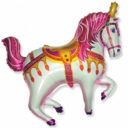 Лошадь цирковая розовая