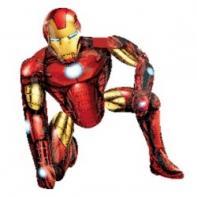 """Ходячий шар """"Железный человек""""."""