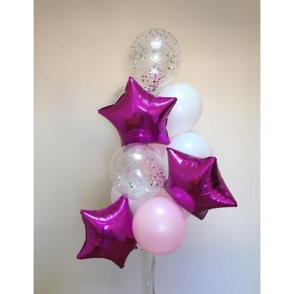 Букет из воздушных шаров фуксия