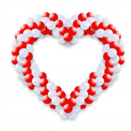 Сердце из воздушных шариков.