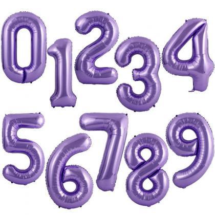 Цифры фиолетовые