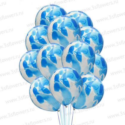 Мраморные синие