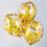 Прозрачные с золотым конфетти