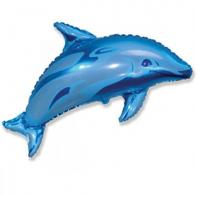 """Фигурный шар """"Дельфин синий""""."""